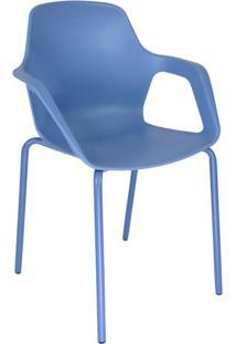 Cadeira De Cozinha Beau Com Braço Azul
