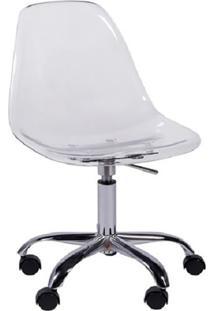 Cadeira Eames Com Rodízios Incolor