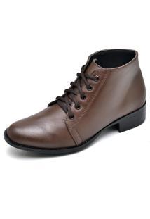 Bota Couro Dr Shoes Pespontos Café - Kanui