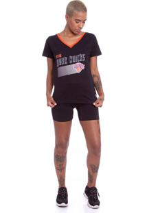 Camiseta Nba Estampada New York Knicks Preta