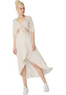 976940426 Vestido Linho Listrado feminino | Shoelover