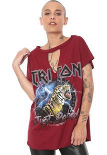 Camiseta Triton Just Rebel Vinho