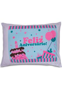 Fronha Divertida Avulsa Malha Yaris Feliz Aniversario Feliz Aniversario