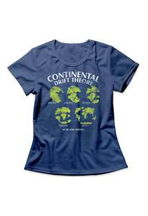 Camiseta Feminina Continental Drift Azul