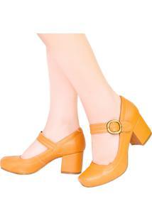 d4b64844af Scarpin Amarelo Onca feminino