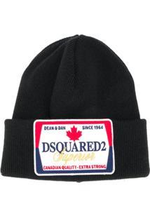 Dsquared2 Gorro Com Patch De Logo - Preto