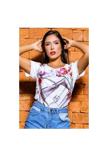 T-Shirt Estampada Floral Com Bolsa Banila B