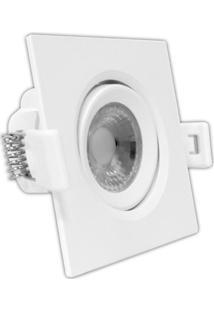Spot Led De Embutir Quadrado Mr16 5W Bivolt 6000K Luz Branca