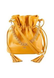 Bolsa Feminina Mayon 5221 Saco Com Corrente Couro Ipe