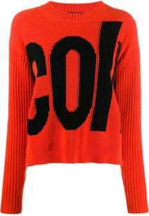 Colville Suéter Com Logo - Laranja