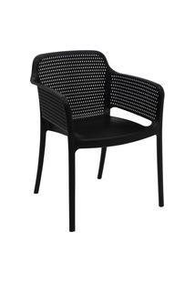 Cadeira Tramontina 92151009 Gabriela Polipropileno E Fibra De Vidro Preto