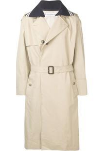 Jw Anderson Trench Coat Com Cinto - Neutro