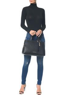 Bolsa Grande Calvin Klein Neat Preto - U