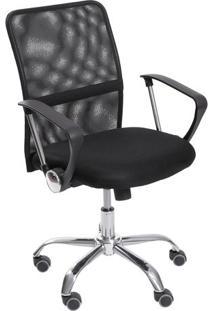 Cadeira Office Smart- Preta & Prateada- 102,5X55X47Cor Design