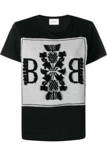 Barrie Blusa Com Logo Bordado - Preto