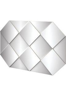 Painel Decorativo Safira Com Espelhos Cor Off White Brilho 1,28 Mt (Larg) - 56526 - Sun House