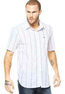 Camisa Volcom Why Factor Stripe Branca
