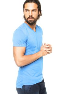 Camiseta Manga Curta Calvin Klein Jeans Lisa Azul