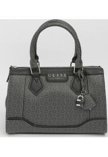 "Bolsa Texturizada ""Guess®"" - Preta & Cinza Escuro - Guess"