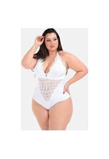 Body Sig Estilo Plus Size Grande Branco