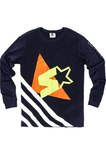 Camiseta Manga Longa Starter Collab Sbr Marinho