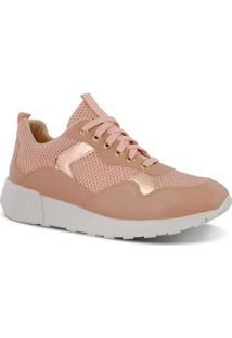 Tênis Prime Shoes Jogging Sneaker Chunky Ugly Feminino - Feminino-Salmão