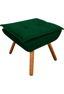 Puff Decorativo D'Rossi Opala Suede Verde