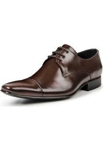Sapato Social Bigioni De Amarrar Italy Masculino - Masculino-Marrom