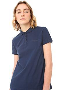 Camisa Polo Calvin Klein Jeans Lisa Azul-Marinho
