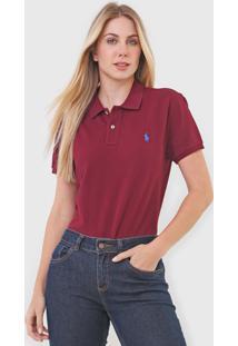 Camisa Polo Polo Ralph Lauren Reta Logo Vinho