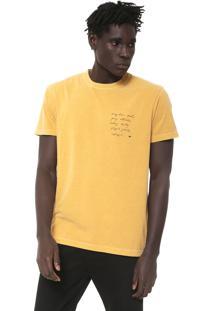 Camiseta Osklen Stone Amarela