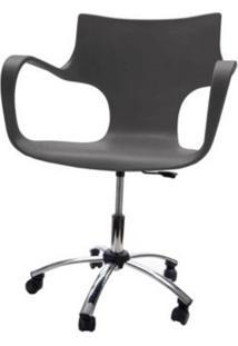 Cadeira Jim Base Giratoria Cromada Cor Cinza - 22599 - Sun House