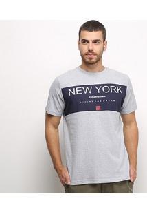 Camiseta Industrie Básica Masculina - Masculino-Cinza