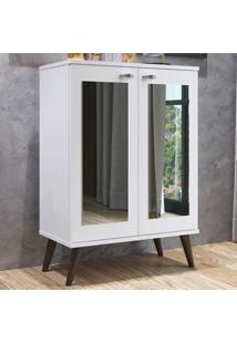 Sapateira 2 Portas Com Espelho 3 Prateleiras Sp070 Branco - Completa Móveis