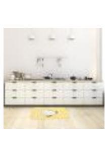 Tapete De Cozinha Mdecore Galinha Amarelo 40X60Cm