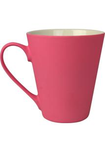 Caneca Soft Touch Em Cerâmica Rosa Kasa Ideia