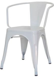 Cadeira Iron Tolix Com Braco Com Pintura Epoxi Branca - 48193 - Sun House
