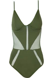Body Rosa Chá Snips Underwear Verde Feminino (Capulet Olive, M)