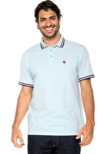 Camisa Polo Timberland Duplo Friso Azul