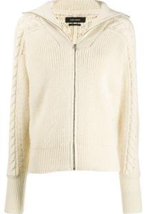 Isabel Marant Lenz Cable Knit Cardigan - Branco