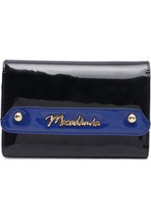 Carteira Verniz Macadamia Azul Azul