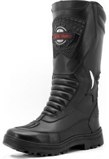 Bota Atron Shoes Motociclista Impermeável Preta