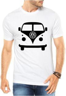 Camiseta Criativa Urbana Kombi Carro Antigo Clássico - Masculino-Branco