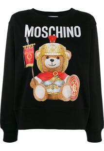Moschino Blusa De Moletom Teddy Bear - Preto