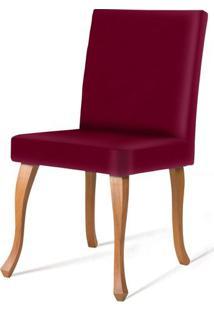 Cadeira Copas Vermelha Base Natural - 50548 - Sun House