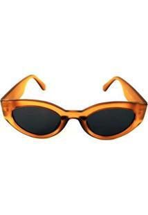 Óculos De Sol Cayo Blanco Redondo Feminino - Feminino-Amarelo