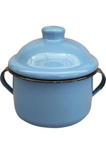 Açucareiro Metallouça De Aço Esmaltado Azul 450Ml