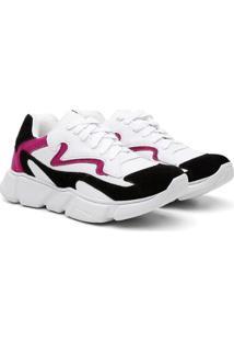 Tênis Chunky Sneaker Casual Feminino - Feminino-Branco