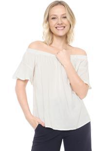Blusa Mercatto Ombro A Ombro Off-White