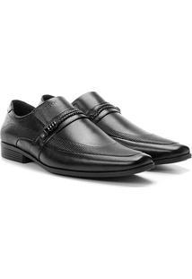 Sapato Social Couro Ferracini Liverpool Masculino - Masculino-Preto